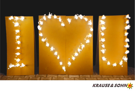 Das Lichterbild I Love You in Aktion